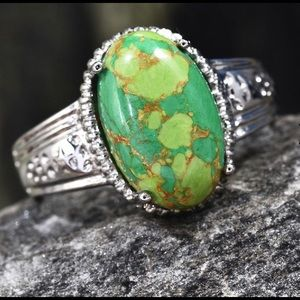 Mojave Green Turquoise Stainless Steel Ring